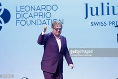 Elton John attends The Leonardo DiCaprio Foundation 2nd Annual Saint-Tropez Gala at Domaine Bertaud Belieu on July 22, 2015 in Saint-Tropez, France.