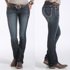 """Setting comfort in movement to a high standard, the """"Anywear"""" jean from CruelDenim is made for performance. The dark stonewash super-stretch denim flexes to fit every curve, every stretch, and every twist. Bold embroidery on the cord stitch and back pockets easily transitions into every environment.   CB45054001 IND  ~Shop CRUEL Denim online today!~"""