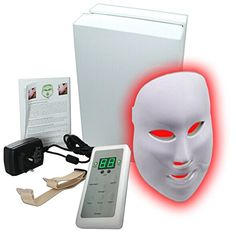 Carer 3 Color LED Mask Photon Light Skin Rejuvenation Therapy Facial Mask Photon Photodynamics PDT Beauty Facial Peels Machine Daily Skin Care Home ** For more information, visit image link.