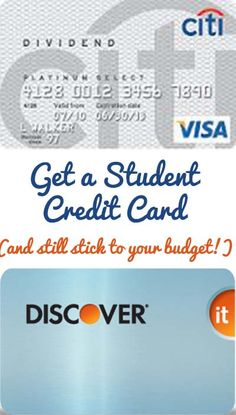 Get a Student Credit Card (And Still Stick to  Your Budget!)