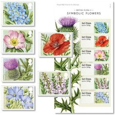 British Flora Symbolic Flowers Stamp Set at Royal Mail Shop