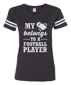 Line Liam Vintage Smoke 'My Heart Belongs To A Football' Football Tee by Line Liam #zulily #zulilyfinds
