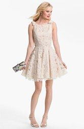 Lush Cutout Detail Skater Dress Juniors Available At Nordstrom