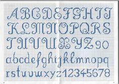 Letras punto de cruz patrones gratis - Imagui