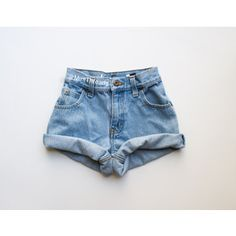 All Sizes Helios Vintage High Waisted Denim Shorts Blue Rolled Cuffed High Waisted Shorts