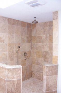Doorless shower. I love this concept.