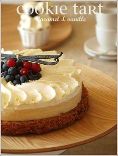 cookie tarte vanille caramel