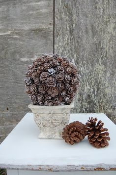 Pine Cone Topiary - Somewhat Simple... not really Christmas but fits with the time of year.