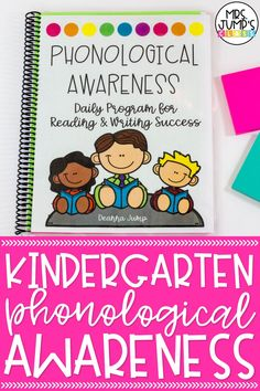 Need a full year of phonological awareness activities to help your kindergarten students in reading and writing? This phonological awareness program includes fun kindergarten literacy activities that target skills like rhyming, syllables, onset and rime, and more!