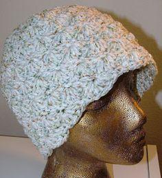 Beanie crochet solid shell stitch - free pattern