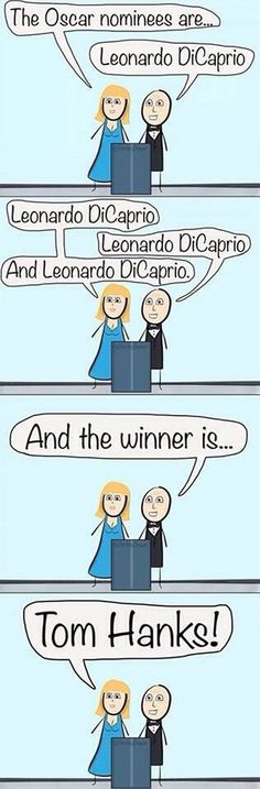 Making Fun Of The 2014 Oscars – poor Leo cant win them all buddy!