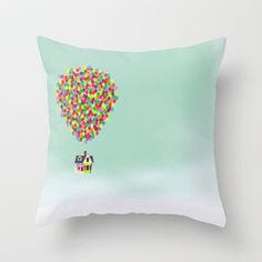 Up Throw Pillow by Derek Temple -