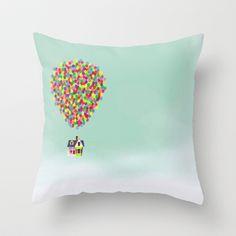 Up Throw Pillow by Derek Temple -