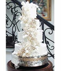 This cake is SO beautiful I would never want to eat it!  and it fits my Italian themed wedding perfect!  Happily Ever After ~ by Tracy Cheyka