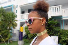 90er Jahre Style Metal Choker Halskette Gold Tone von ABAJewels