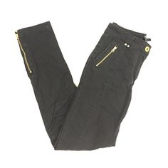 Pants with Gold Zips Charcoal pants, stretchy, only worn once H&M Pants Skinny