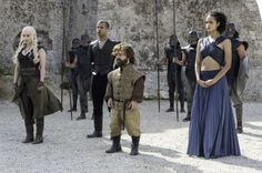 """Tyrion, Daenerys, Missandei, and Grey Worm Game of Thrones - Season 6, Ep 9 """"Battle of the Bastards"""""""