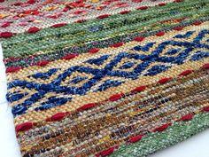 Best Kind of Music Rag Rug Hand Woven Rosepath by WarpedforGood