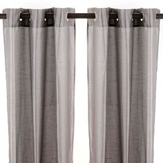 Faux Silk Gray Curtain Panels | Kirklands