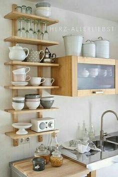 Práctica idea para cocinas  pequeñas