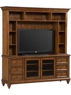 """Holds a 42"""" TV and is 48-1/2"""" wide.  Wish it were about 65"""" wide.  And, for me, the beadboard isn't that attractive."""