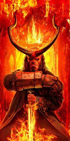 Red, Hellboy, David Harbour, 2019 movie, 1080x2160 wallpaper