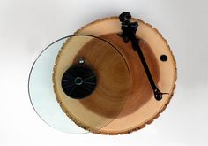 Barky turntable by Audiowood, reclaimed solid ash wood, glass platter Record Players, Cool Gadgets, Music Gadgets, Handmade Wooden, Industrial Design, Home Accessories, Cool Designs, Rustic, Cool Stuff