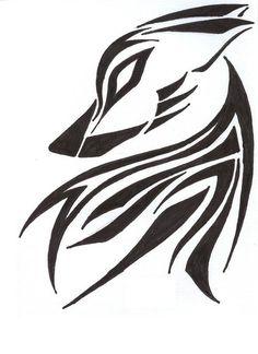 wolf icon tattoo