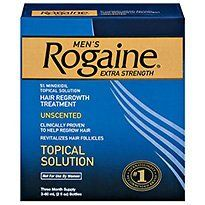 ROGAINE MEN'S EXTRA STRENGTH - 3 bottles 2oz each by J CONSUMER SECTOR ***. $51.44. Hair Regrowth Treatment. 3-MONTH SUPPLY ROGAINE® Hair Regrowth Treatment contains the only FDA-approved topical ingredient clinically proven to regrow hair in men and women. If you're among the estimated 50 million men in the U.S. experiencing hereditary hair thinning, you can fight back with ROGAINE®. And the best time to start is now. Because the sooner you start, the bet...