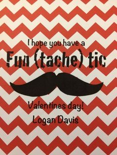 Boy's Mustache Valentine's Day Grams