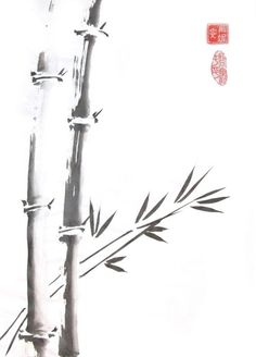 Chinese ink paintings - bamboo