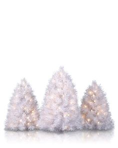 Get a chance to win one of five  sets of Winter White Tabletop Christmas Trees by joining our Valentine's Day Giveaway!