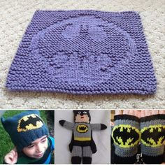 Today is #BatmanDay honoring the first ever appearance of Batman in May 1939 in Detective Comics #27. You can find links to these patterns at http://intheloopknitting.com/super-hero-knitting-patterns/ All the patterns pictured are free except for the mitts.