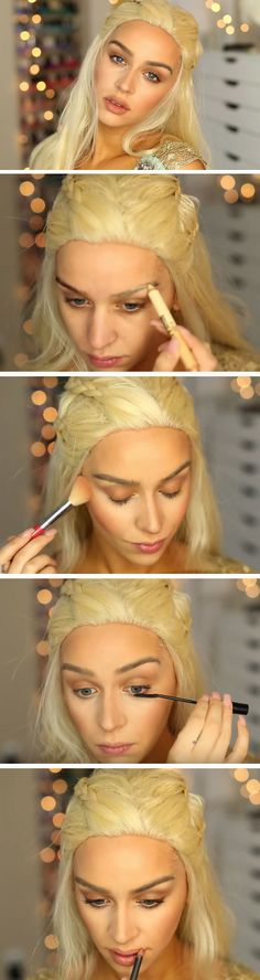 Khaleesi Makeup | 18 Game of Thrones Halloween Costumes Ideas that you can easily make yourself!