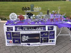 #EcoCreateHour this was my stall yesterday and I reached 5000 likes on my Facebook page too. http://www.facebook.com/klmetalart