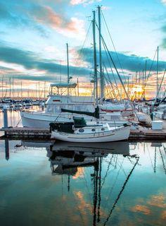 Shilshole Bay Marina, Seattle, Washington - #goldenhour
