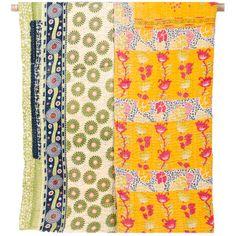 Vintage Kantha Throw Blanket - Lollipop Floral