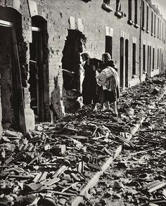 The Blitz, London 1940- tramping through the rubble.