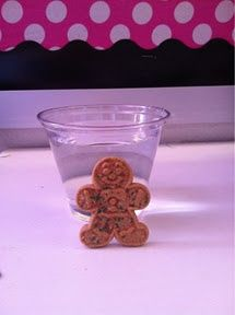 Science experiment - The Gingerbread man ran and ran until he came to some water . . .  The Gingerbread man did not want to get wet. Why not? What would have happened to the Gingerbread man if he had gotten wet? We experimented to find out!    We put a gi
