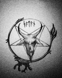 Satanic Pentagram Tattoo