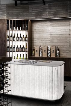 Act of Wine by ZWEI - Melbourne Hospitality Architecture Design Project - The Local Project Melbourne Architecture, Architecture Images, Australian Architecture, Contemporary Architecture, Interior Architecture, Architecture Details, Wine Bottle Display, Retail Interior Design, Melbourne House