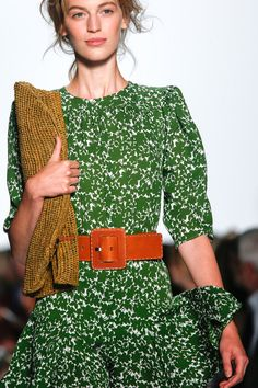 What a beautiful combination of texture and color - Spring 2014 Ready-to-Wear, Michael Kors #wearona #michaelkors #spring2014
