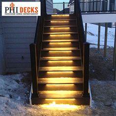 Odyssey LED Strip Light by Aurora Deck Lighting #stairlights #decklights #ledlights