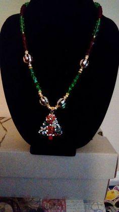 Christmas Tree Necklace by AmayasGrandma on Etsy