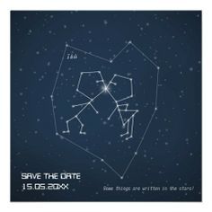 Love Constellation  - Wedding Save the Date Invitations
