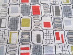 atomic tablecloth   ... Retro Atomic Mid Century Geometric Barkcloth Curtain Fabric Tablecloth