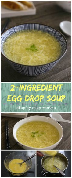 This easy egg drop soup recipe only requires 2 main ingredients and takes 10 minutes to make.