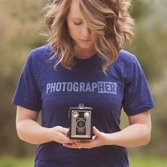 """This shirt just might replace my current favorite T that has a camera captioned """"I shoot people""""."""