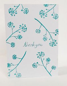 Ivy Flower thank you card by maria nilsson