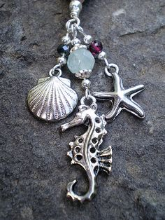 Tide pool necklace = this would be a pretty purse dangle for summertime